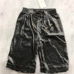 NWT Gray Velvet Gaucho Pants